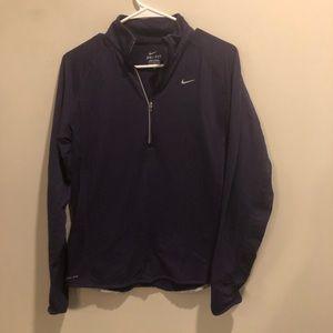 Nike Dri-fit quarter zip jacket purple